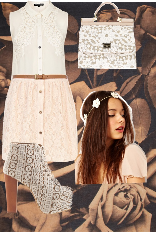 """Spring/Lace"" by cayla-monzon ❤ liked on Polyvore"