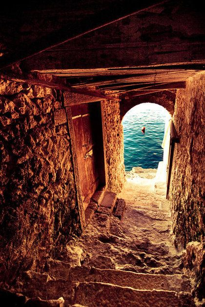 Passage To The Sea, Isle Of Crete, Greece