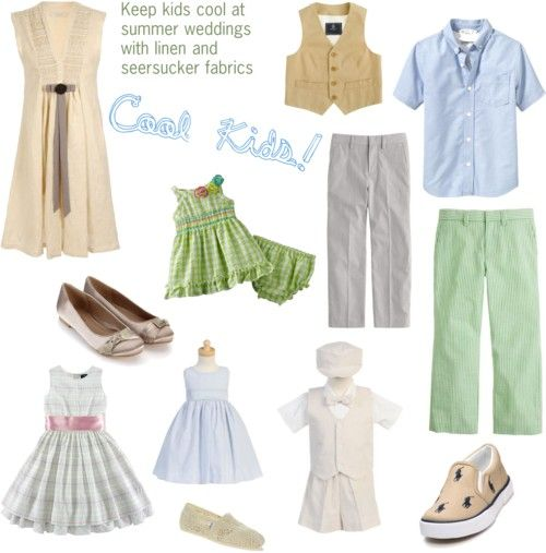 Cool Kids fashions for summer weddings
