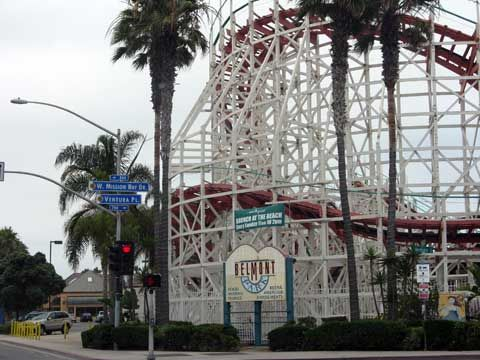 Mission Beach, San Diego:  The rollercoaster