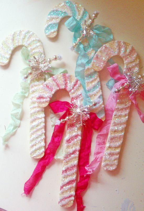 Sugar*Sugar!! Love these pretty glittered candy canes!!