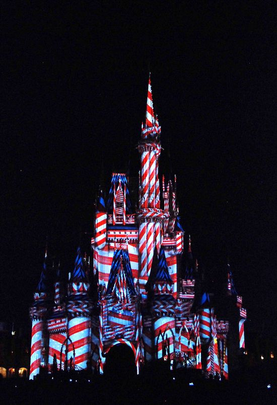 Candy cane castle
