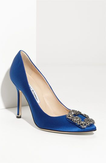 A girl can dream......Manolo Blahnik 'Hangis' Jeweled Pump available at #Nordstrom