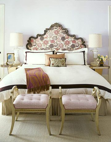 Like the antique headboard and benches.