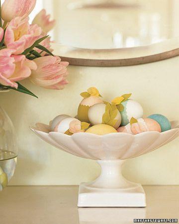 Striped-Eggs Centerpiece