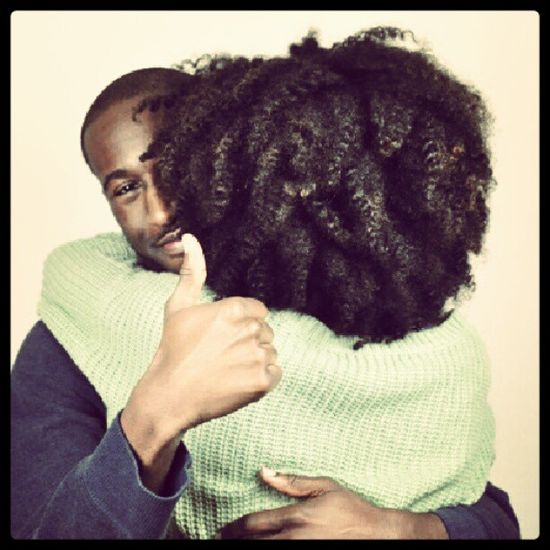 This is pretty darn adorable! #NaturalHair #fro #afro #couple
