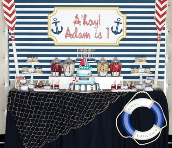 Nautical Boy Birthday Party Ideas