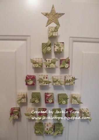Magnetic Advent Calendar by jactop - Cards and Paper Crafts at Splitcoaststampers