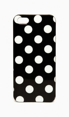 Polka Dot iPhone 5 Case in Black