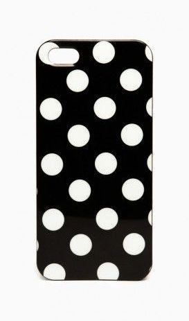Polka Dot iPhone 5 Case in Black