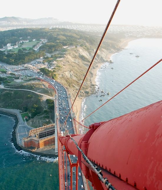 View from the Golden Gate Bridge, San Francisco