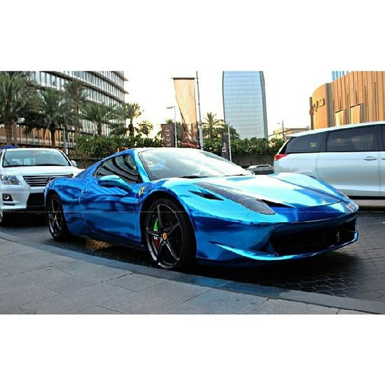 chrome blue Ferrari WOW oh WOW!