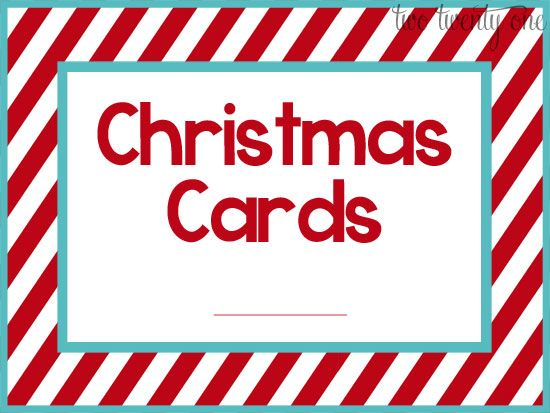 Super easy Christmas Card Books...fun way to organize by year!