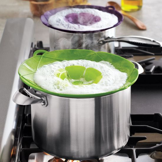 Now THAT Is what I need! Lids that stop boiling over!