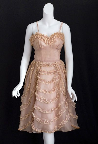 Silk organza party dress, 1950s
