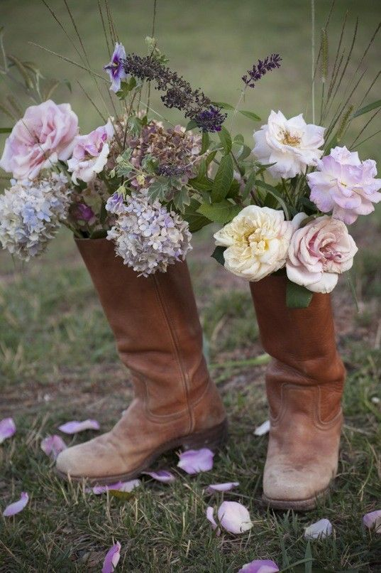 boot vases!