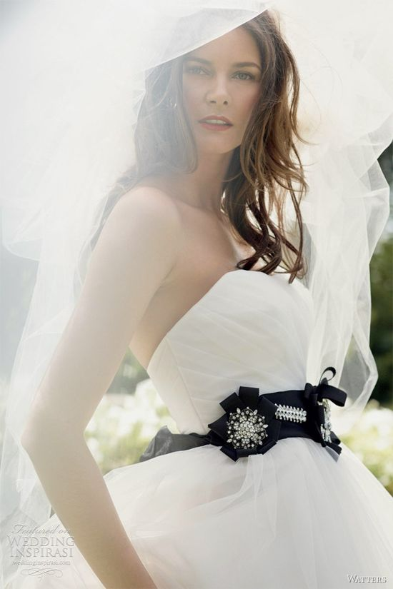 not loving the black belt, but someone will! Watters Bridal Collection- Spring 2012