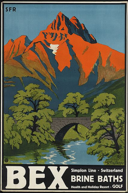 Switzerland  #vintage #travel #poster