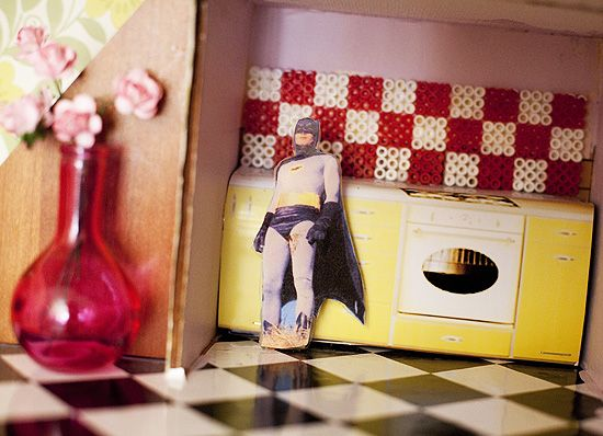 Creative handmade dollhouse