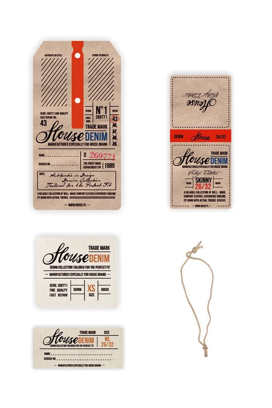 Vintage - Denim Swing Tag & Label by Anna Maja Czech, via Behance