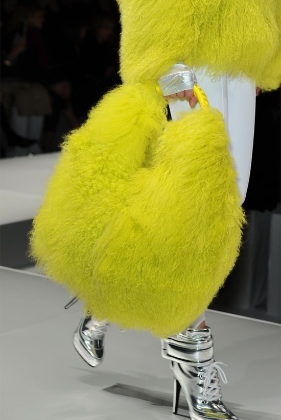 Blumarine:  THIS is a rare example of silver and yellow together that is not an epic fail.  This makes me smile!