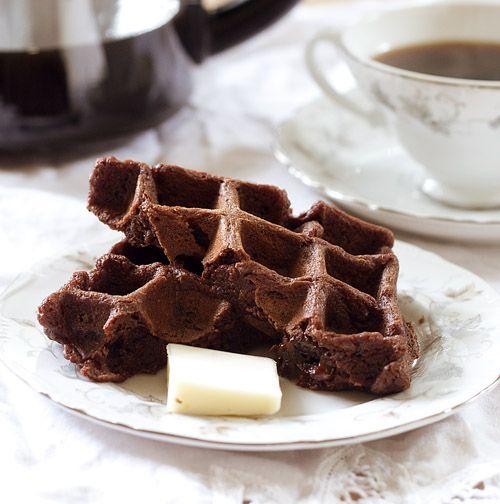 Chocolate Cherry Waffles