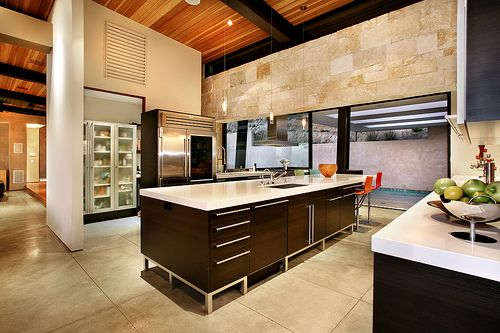 stone in modern kitchen