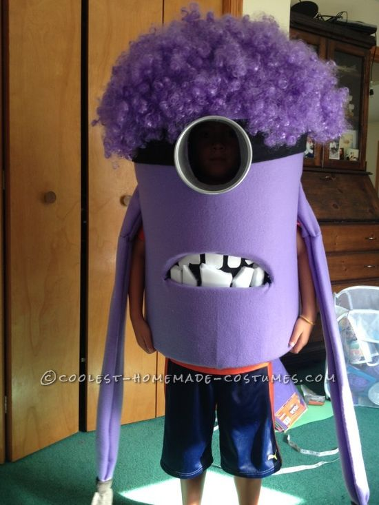 Coolest Homemade Purple Evil Minion Costume from Despicable Me ... This website is the Pinterest of costumes