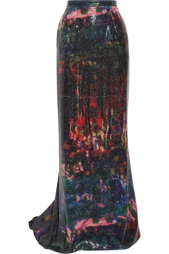 Primrose Sequined Maxi Skirt by Erdem #Skirt #Erdem