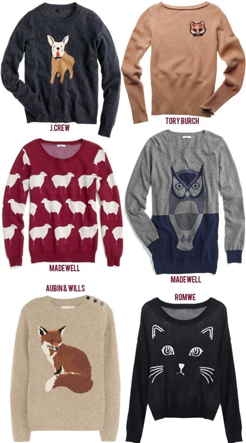 animal sweaters for winter!