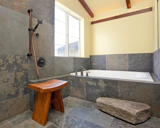 Asian Bathroom Slate Design, Pictures, Remodel, Decor and Ideas - page 2