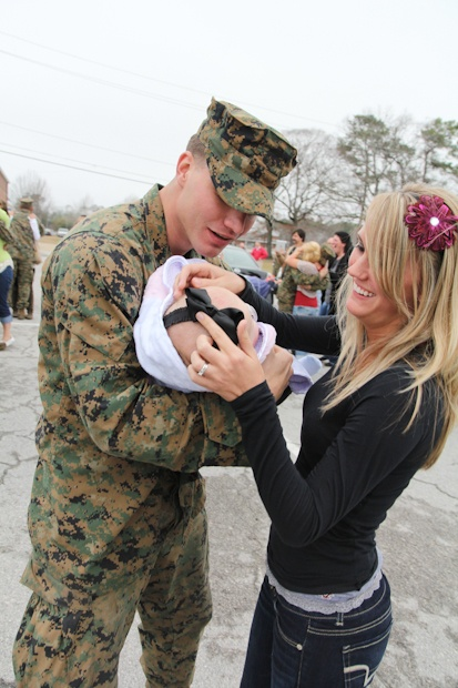 """""""First time seeing his baby girl."""" - MilitaryAvenue.com"""