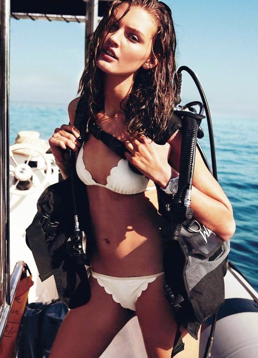 scalloped bikini