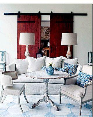 Pamela Pierce - casual eclectic Country Living room #decor #ideas #home  pinterest.com/...