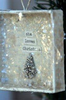sweet Christmas box ornament?