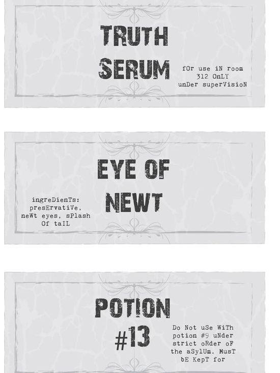 Printable Potion Bottle Labels for Halloween
