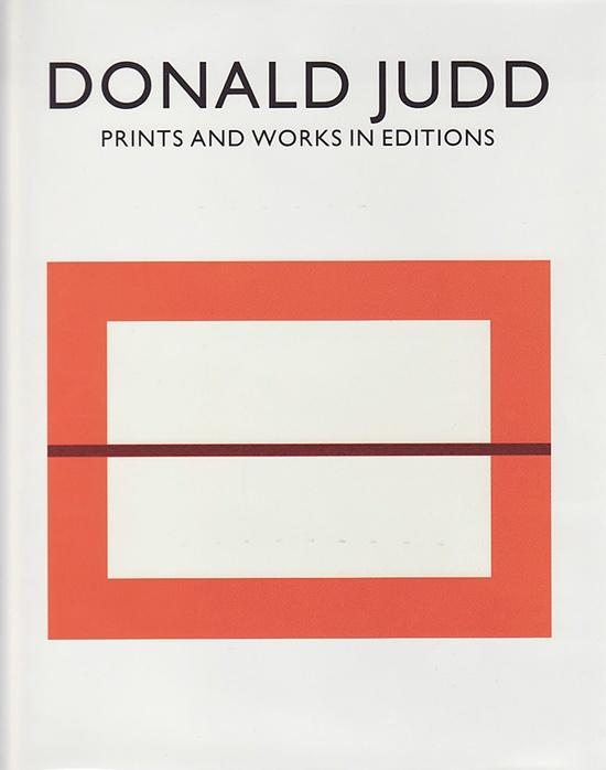 Donald Judd Book's Cover.