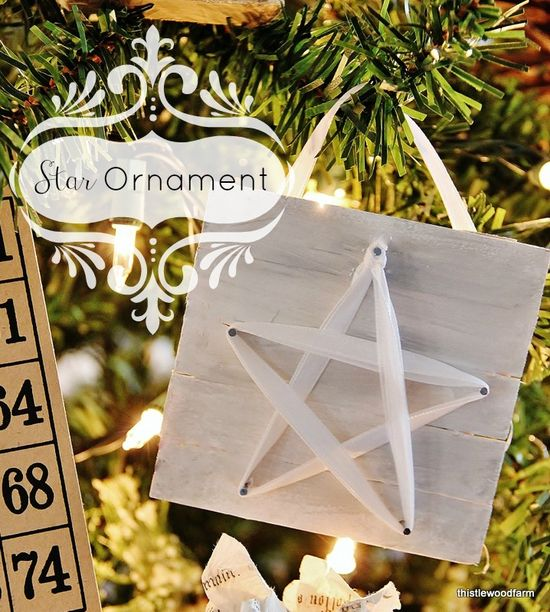 DIY Easy Star Ornament #12daysofchristmas
