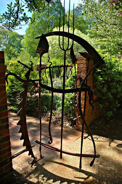 Fun garden gate