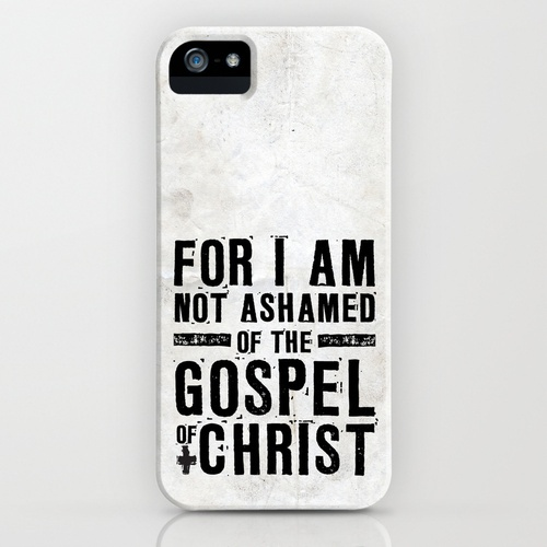 Romans 1:16 Not Ashamed iPhone Case by Pocket Fuel