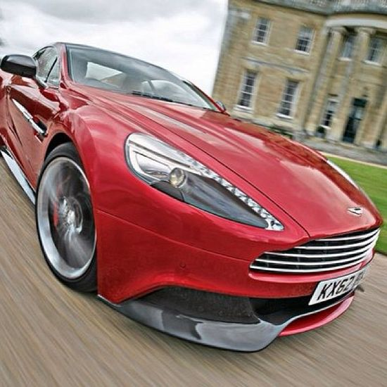 Cool pic of a Red Aston Martin Vanquish!