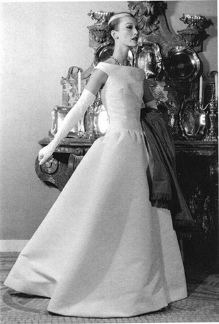 Mary Jane Russell wearing Balenciaga, 1950s