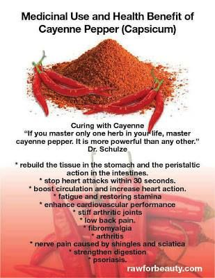Here are a few medicinal uses and health benefits of Cayenne pepper: www.naturalcuresn...