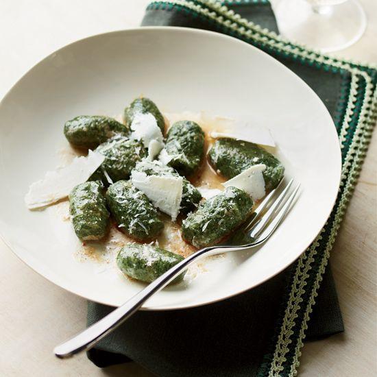 Spinach Gnocchi with Shaved Ricotta Salata // More Great Gnocchi Recipes: www.foodandwine.c... #foodandwine