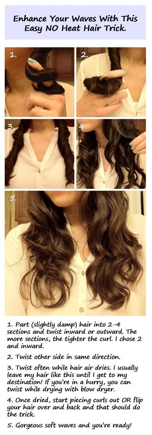 HAIR - enhance your waves with no heat hair trick