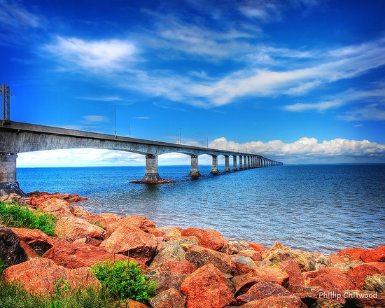 Bridge to Prince Edward Island in Canada
