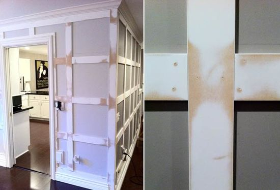 Marcus Design: {before and after: my diy panelled walls}