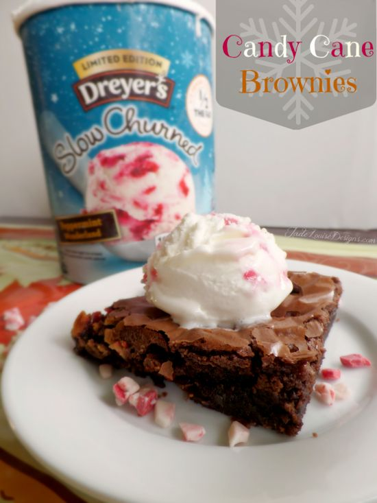 Candy Cane Brownies #Recipe plus Stress Free Holiday Meal Planning Tips!  #PlanAhead #Shop #cbias #brownies