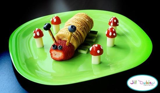 caterpillar snack/lunch