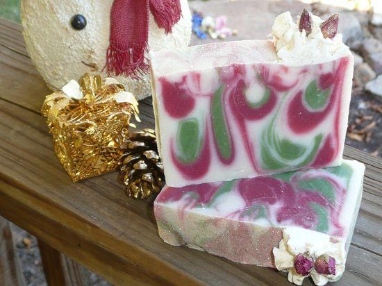 Enchanted Christmas soap. Handmade soap from The Enchanted Bath in Wayne County, West Virginia. #handmade #soap #gift #westvirgina #coldprocess